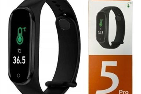 Smartband 5 Pro com Medição de Temperatura Corporal, Oxímetro, Frequência Cardíaca, Sono, Passos, Calorias, etc. desde 16€. ENVIO IMEDIATO. PORTES INCLUÍDOS.