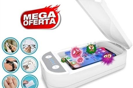 MEGA OFERTA: Esterilizador Ultravioleta de Smartphones, Chaves, Máscaras, etc. por 25€. Desinfeta e elimina vírus e bactérias. ENVIO IMEDIATO. PORTES INCLUIDOS.