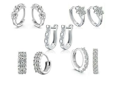 £14.99 for five pairs of crystal earrings from Bucks Trading!