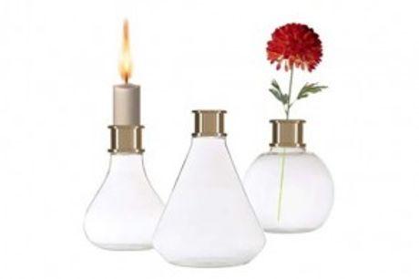 2-i-1 Lysestage & Vase.  Eksklusiv Edison lysestage & vase - produkt i høj kvalitet med smukt Skandinavisk design.