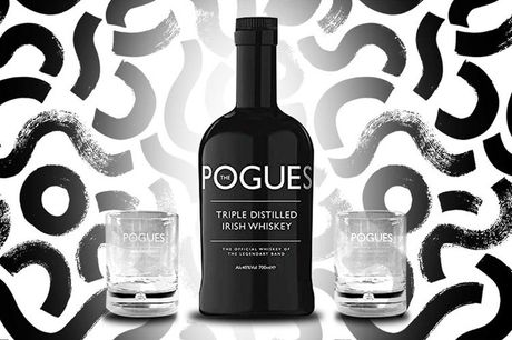 £22 for a 70cl bottle of The Pogues Irish Whiskey from Salder's Peaky Blinder Distillery including two The Pogues branded tumblers