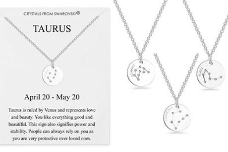 Collar del zodiaco con cristales de Swarovski® de Philip Jones