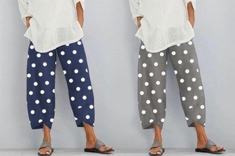 Pantalones sueltos con lunares