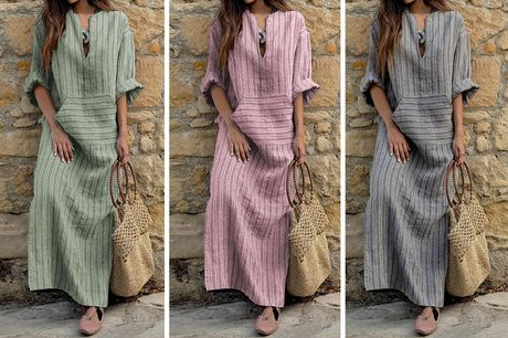 £11.98 for a women's long length dress in UK sizes 6-22 from Oh My Boo