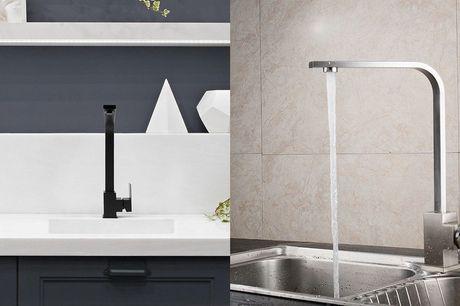 Keuken kraan Miami Keuze uit RVS of zwart<br /> Voor in de keuken of badkamer<br /> Gemakkelijk te monteren