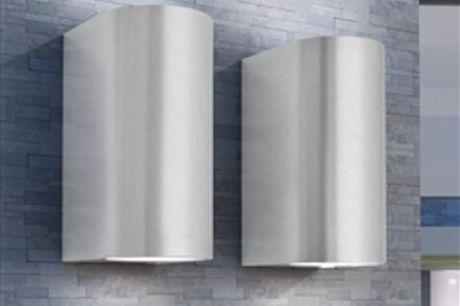 Candeeiros parede LED superior/inferior p/ext., 2 pcs, redondo por 66.66€ PORTES INCLUÍDOS