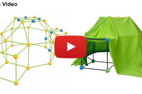 Byg din egen hule med det kreative hulebygge-sæt - timevis af sjov for børnene!