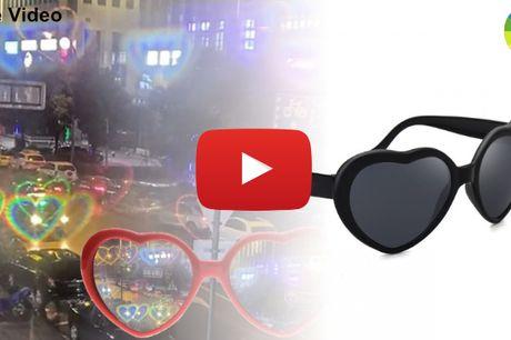 Stilfulde og sjove hjertebriller der gør alle lyskilder hjerteformet!