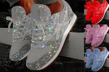 £15.98 instead of £59 for a pair of women's sequin trainers in UK sizes 3-10 from I-nod - save 73%