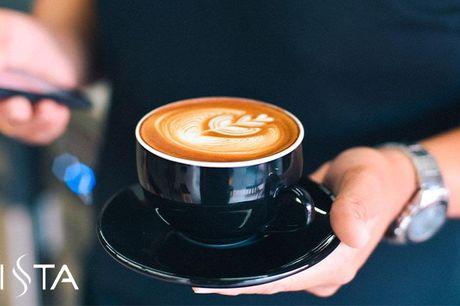 Gratis kaffe på Københavns caféer i 2 måneder Vælg frit mellem blandt andet Cappuccino, Latte og Americano på udvalgte, Københavnske caféer. Hver eneste dag. Genialt til dig, der bruger lidt for mange penge på kaffe.