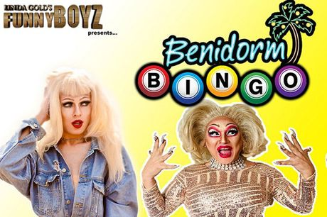 From £6 for two Benidorm drag queen bingo tickets including a glass of fizz each and unlimited popcorn at Funnyboyz, Liverpool - save up to 57%