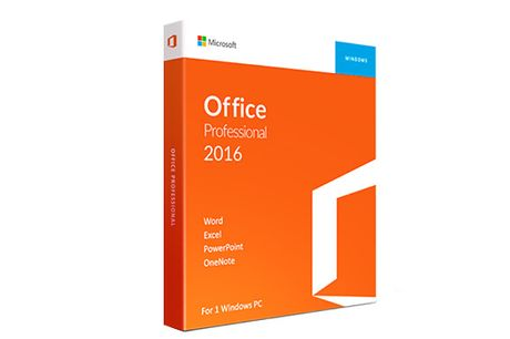 Microsoft Office 2016 Home & Student or Professional - For Windows Only     Or upgrade to Office Professional 2016 depending on your needs     Home  and  Student:     Includes the 2016 versions of classic Office programmes: Word, Excel, Powerpoint and