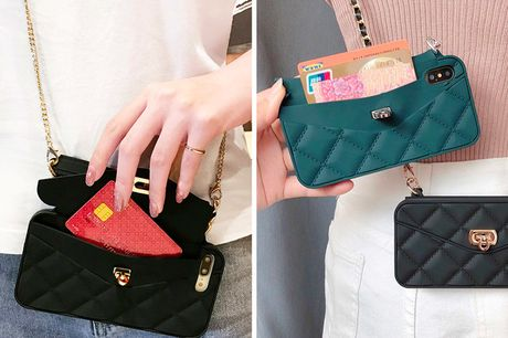 £8.98 for a quilted smartphone bag with shoulder chain strap in Black or Green from J&Y Distribution!