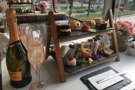 Afternoon Tea and Vintage Bus Tour of Edinburgh or Glasgow for Two with Red Bus Bistro