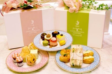 Takeaway Traditional or Sparkling Afternoon Tea for Two at Caffè Concerto, Multiple Locations (Up to 43% Off)