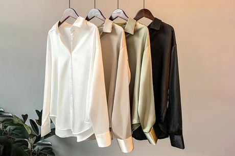 £9.99 for a women's long sleeve satin shirt from Pinkpree