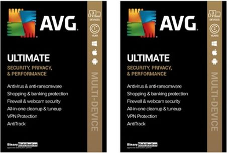 AVG Ultimate 2021 with AntiTrack - Three Devices - One & Two Years
