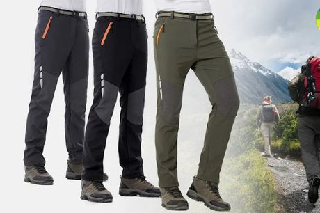 Stilfulde og slidstærke Softshell bukser i vandafvisende letvægtsmateriale