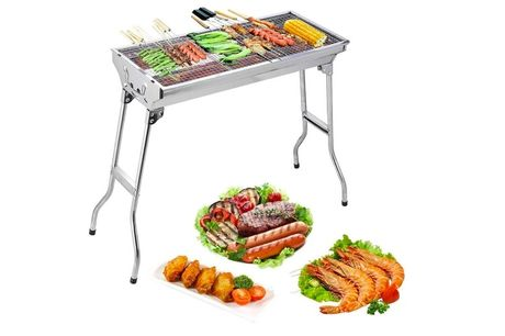 £22.99 instead of £79.99 for a portable grill BBQ from Ground Level - save 71%