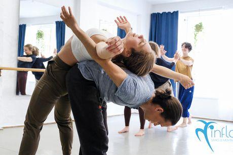Inflow Studio: yoga, dans, barre mm.. Super åbningstilbud: 10-turs klippekort el. 60 dages fri træning