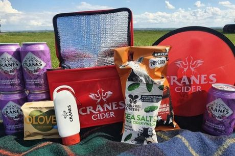 £19.99for a cider picnic bundlefrom Cranes Drinks including five 330ml cider cans, a branded cool bag, SPF 30 suncream, branded frisbee and snacks - the perfect sunny day treat!