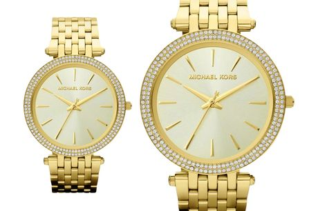 £99 instead of £279 for ladies Michael Kors MK3191 gold-tone Darci watch from CJ Watches - save 65%