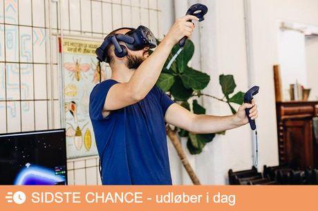 30 minutters Virtual Reality Oplev Virtual Reality i 30 minutter (99,-), hvor du får en oplevelse ud over det sædvanlige. Du behøver ikke være god til computerspil, for at få noget ud af denne oplevelse. Vælg i mellem flere forskellige spil som du kan prø
