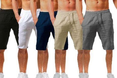 Men's Casual Linen Shorts