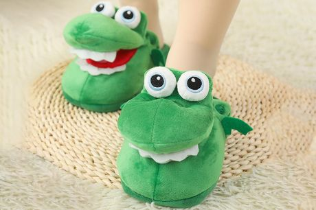 £12.99 instead of £24.99 for a pair of talking crocodile slippers in UK sizes 3.5-6.5 or 6-8.5 from Vendinplus - save 48%