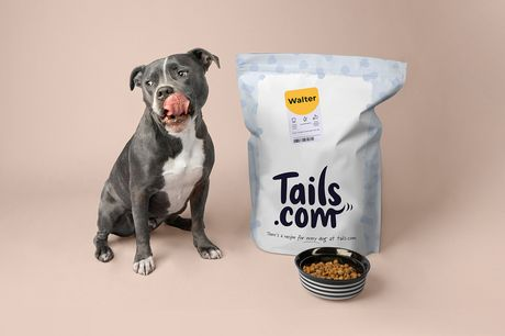 £5 instead of £38 for a one month supply of tailored dry dog food from tails.com - get tails wagging with only the best pet food your furry friend and save 87%