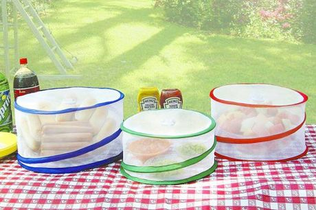 £7.99 instead of £19.99 for a pack of three collapsible food covers from Fusion Homeware - save 60%