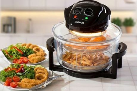 £49 instead of £119.99 for a 12L 2-in-1 halogen air fryer from Global Gift House - save 59%
