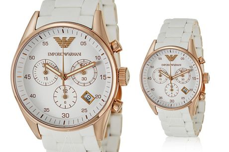 £99 instead of £369 for an Emporio Armani silicone watch from CJ Watches – save 73%