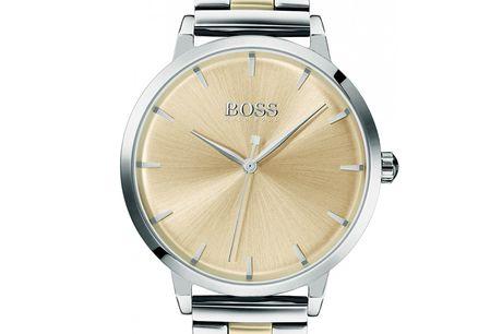 Hugo Boss 1502500. Det ikoniske designhus Hugo Boss har med deres nye serie af ure til kvinder skabt en stor succes Hugo Boss 1502500 er et klassisk dameur i en stål/guld farve kombination. Dette elegante og klassiske Hugo Boss ur har et kvarts urværk