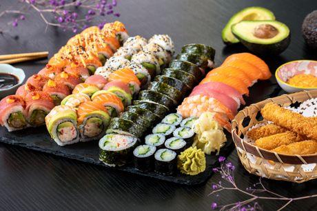 Sushimenu på Frederiksberg. Vælg mellem 2 store og friske sushimenuer centralt på Frederiksberg - gælder til takeaway