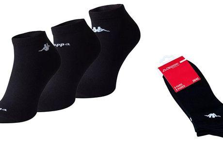 Kappa ankelstrømper .  3 el. 6 par Med disse korte Kappa strømper har du strømper til enhver lejlighed og til langt de fleste salgs sko. Du kan både bruge dem til hverdag i dine snea-kers eller til en god løbetur Du kan vælge mellem 2 størrelser.