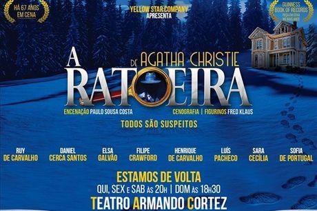 Aqui todos são suspeitos! Não perca, dias 17, 20, 24 e 27 de junho, o clássico de Agatha Christie em cena no Teatro Armando Cortez. Apenas 16,5€