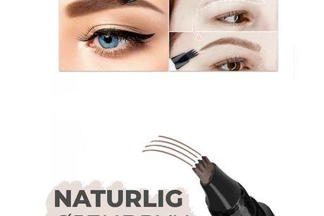 Eyebrow tattoo pen - 2 stk. Få fylde, lækre og realistiske smukke øjenbryn med den nye Eyebrow Natural Tattoo Touch   - Få mere volumen med Eyebrow Natural Tattoo - Udfylder dine huller i øjenbrynene! - Holder i op til 24-timer uden at smitte af!    Som
