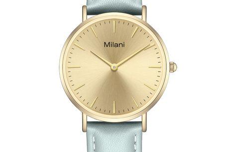 Milani Classic Grey Leather Gold