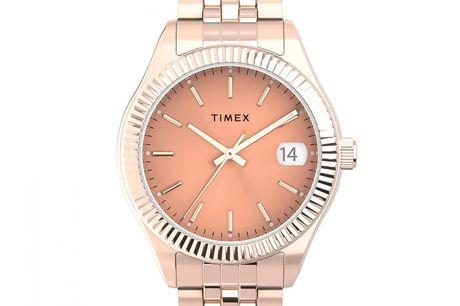 Timex Waterbury TW2T86800. Timex er et ikonisk amerikansk urmærke, der er kendt for tidløse designs. Timex er grundlagt i 1854 og har etableret en tradition for at skabe høj kvalitet, innovative ure, der passer til alle kunders behov Timex ure har været