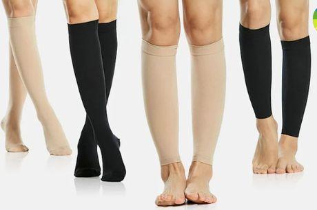 Behagelige og støttende kompressionsstrømper - med eller uden fod