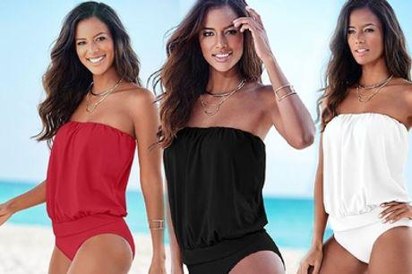 Strapless One-Piece Beachwear