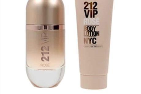 Conjunto de Perfume Mulher 212 VIP Rosé Carolina Herrera (2 pcs) por 88.44€ PORTES INCLUÍDOS
