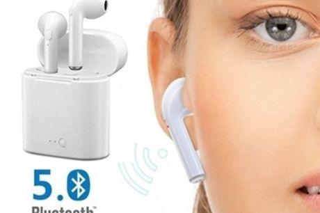 2 Auriculares sem Fios com Bluetooth 5.0, Microfone e Caixa de Carregamento USB desde 14€. ENVIO IMEDIATO. PORTES INCLUÍDOS.