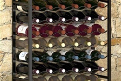 Garrafeira para 48 garrafas metal preto por 117.48€ PORTES INCLUÍDOS