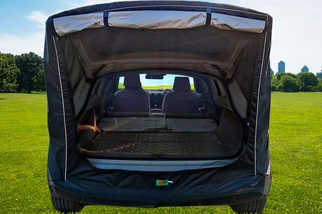 £50 for a waterproof rear awning tent from Magic Trend