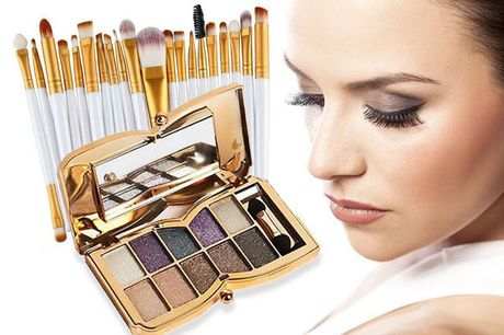 £9.99 for a 20-piece makeup brush set and 10 colour eyeshadow butterfly palette with naked glitter shades from Forever Cosmetics