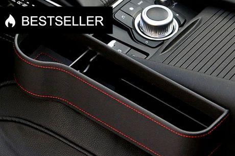 Smart Billomme 2 stk   Vi kender det alle. Du lægger telefonen i bilen, og vupti, så ligger den under sædet. Undgå dette problem med disse smarte billommer!    - Skab mere opbevaringsplads i bilen - Lommen er opdelt i et opbevaringsrum og en kopholder -