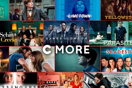 3 måneders CMORE til prisen af 1.  Stream løs I samarbejde med C More tilbyder Sweetdeal dig nu 3 måneders adgang til masser af film og serier - for kun 1 måneds pris. Du får i 3 hele måneder adgang til alle C Mores film og serier
