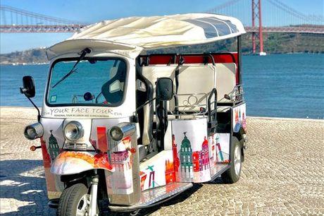 Explore a cidade de Lisboa a bordo de um Tuk Tuk com capacidade até 4 pessoas. Escolha o tour que melhor e adapta ao que procura e aventure-se nesta viagem por Lisboa Histórica ou Lisboa Poética. A partir de 39,9€